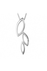 Hot Diamonds Sterling Silver Multi Leaf Pendant DP168