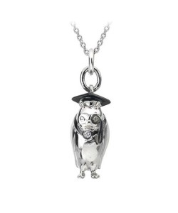 Hot Diamonds Sterling Silver 'Twit Twoo' Graduate Owl Pendant DP362