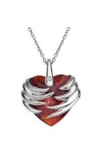 Hot Diamonds Sterling Silver 'Angel Heart Magma' Pendant DP433