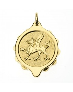 SOS Talisman Gold Plated Welsh Dragon Pendant 222 365