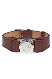 SOS Talisman Stainless Steel Capsule With Leather Watch Strap 237 700