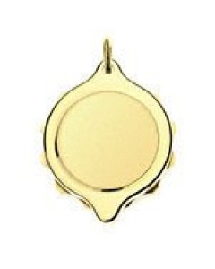 SOS Talisman Gold Plated Plain Pendant 222 304