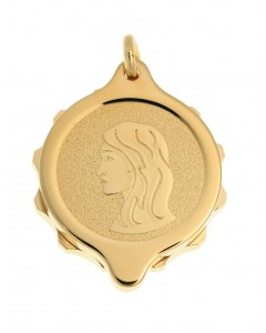 SOS Talisman Gold Plated Virgo Pendant 222 315