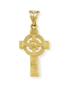 9ct Gold 24x16mm Solid Celtic Cross CR126