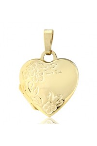 9ct Gold 14mm Heart Locket LK202