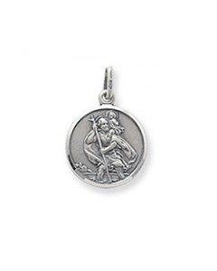 Sterling Silver Round St. Christopher Pendant G6136