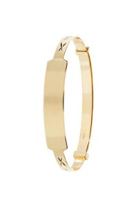 9ct Gold Baby Identity Bangle BN130ID