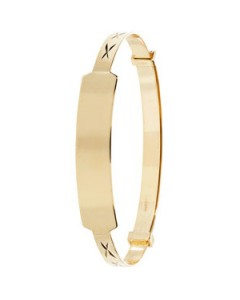 9ct Gold Baby ID Bangle BN130ID