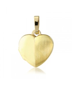 9ct Gold 10mm Heart Shaped Locket LK200