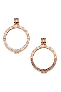 Mi Moneda Rose Gold Plated Silver Deluxe Coin Holder Pendant PEN-LU-03