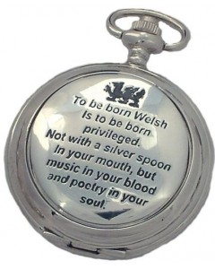 "Woodford Full Hunter ""Born Welsh"" Pocket Watch 1963"