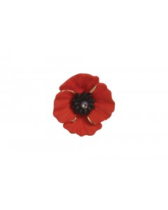 18ct Gold Plated Peace Poppy Clutch Pin