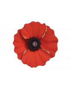 18ct Gold Plated Peace Poppy Brooch/Pendant