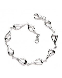 Purity 925 Sterling Silver Teardrops Bracelet PUR0305/2