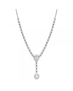 Purity 925 Sterling Silver Cubic Zirconia Necklet PUR1911N