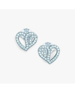 Real Effect Sterling Silver CZ Heart Stud Earrings RE11854CZ