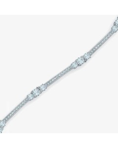 Real Effect Sterling Silver CZ Bracelet RE23414CZ