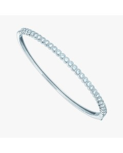 Real Effect Sterling Silver CZ Set Bangle RE26744CZ