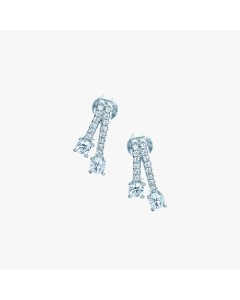Real Effect Sterling Silver CZ Split End Stud Earrings RE28944CZ