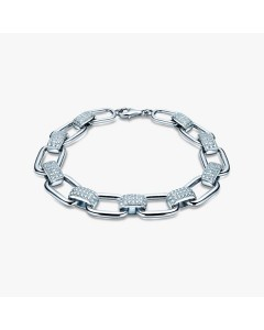 Real Effect Sterling Silver CZ Bracelet RE32884CZ