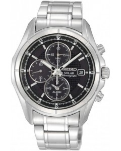 Seiko Gents Solar Alarm-Chronograph Watch SSC005P1