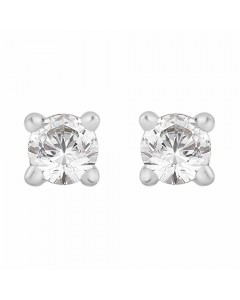 18ct White Gold Diamond Stud Earrings STUD-18PCW