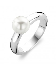 Ti Sento Sterling Silver 8mm White Pearl Ring 1444PW
