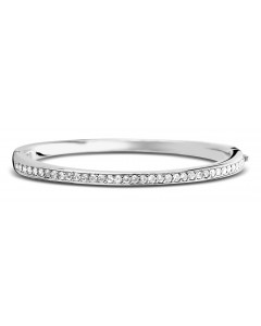 Ti Sento Sterling Silver Cubic Zirconia Bangle 2298ZI
