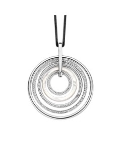 Ti Sento Sterling Silver 5 Rings Pendant 6726MW