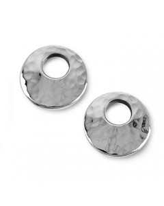 Tianguis Jackson Sterling Silver Hammered Earrings CE0855