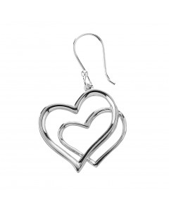 Tianguis Jackson Sterling Silver Double Heart Earrings CE1222