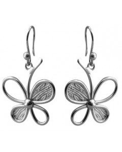 Tianguis Jackson Sterling Silver Four Leaf Clover Earrings CE1358