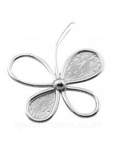 Tianguis Jackson Sterling Silver Four Leaf Clover Pendant CP0641