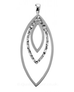 Tianguis Jackson Sterling Silver Open Ovals Pendant CP0655
