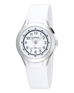 Lorus Children's White Resin Backlight Watch R2309FX9