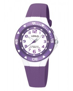 Lorus Children's Purple Resin Backlight Watch R2337DX9