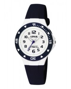 Lorus Children's Navy Resin Backlight Watch RRX43CX9