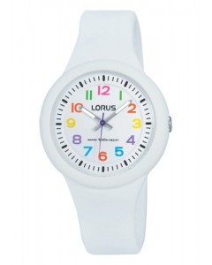 Lorus Children's White Silicon Watch RRX43EX9