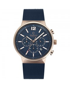 Obaku Gents Storm Ocean Chronograph Watch V180GCVLML