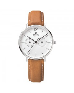 Obaku Gents Flod Cognac Watch V182GMCWRZ