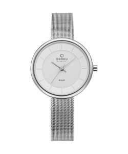 Obaku Ladies Lys Steel Solar Watch V206LRCWMC