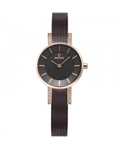 Obaku Ladies Lykke Walnut Watch V207LEVNMN