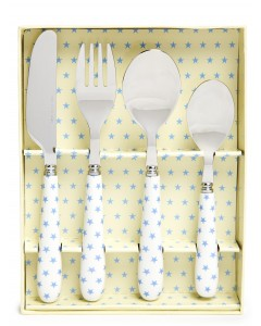 Martin Gulliver Blue Star 4 Piece Cutlery Set