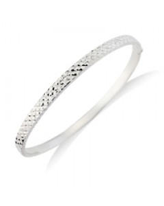9ct White Gold DC Bangle BN390