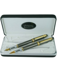 Autograph 'Gun Metal' Fountain & Rollerball Pen Set DSGM