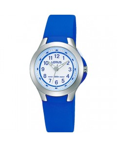 Lorus Children's Blue Resin Backlight Watch R2399JX9