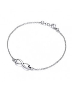 Purity 925 Sterling Silver Infinity Loop Bracelet PUR3678B