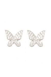 Espree Sterling Silver CZ Butterfly Earrings 5499