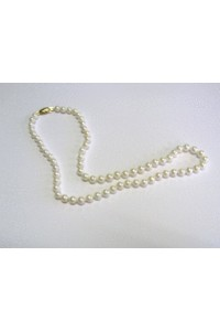 """Single Row 16"""" 5-5.5mm Cultured Pearl Necklet"""