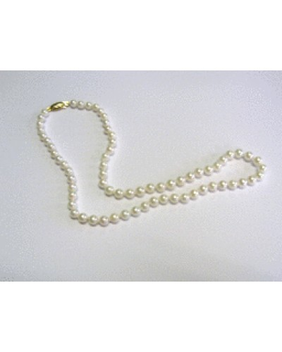 "Single Row 16"" 5-5.5mm Cultured Pearl Necklet"